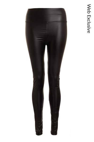 Black Faux Leather High Waist Leggings